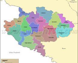 siwan-tehsil-map